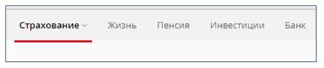 Верхнее меню сайта